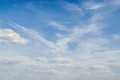 niebo, chmury słoneczny Obrazy Royalty Free
