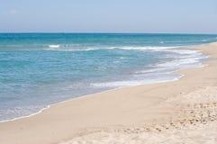 niebo dennego przypływu pusta plaża Zdjęcia Royalty Free
