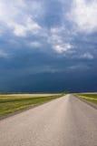 niebo drogowa burza Zdjęcie Royalty Free
