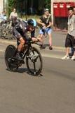 Niebo Drużynowy konkurent przy wysoką prędkością przy Giro 2017, Mediolan Fotografia Stock