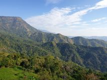 Niebo góry wiatr jest bardzo piękny przy Phu Tupberk w Tajlandia obrazy stock