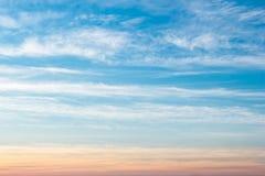 Niebo gradient od błękita pomarańcze Fotografia Royalty Free