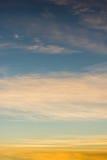 Niebo gradient od błękita pomarańcze Obrazy Royalty Free