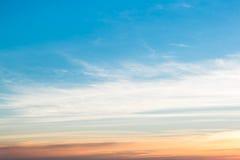 Niebo gradient od błękita pomarańcze Zdjęcia Royalty Free