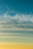 Niebo gradient od błękita pomarańcze Zdjęcie Stock