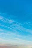 Niebo gradient od błękita pomarańcze Zdjęcie Royalty Free