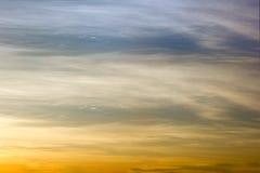 Niebo gradient od błękita pomarańczowy zmierzch Fotografia Royalty Free