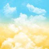 Niebo i chmurny Fotografia Royalty Free