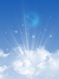 Niebo i chmury ilustracja wektor