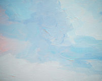 Niebo i chmury, ilustracja Fotografia Royalty Free