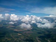 Niebo i chmury na wysokości samolot Fotografia Royalty Free