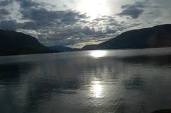 niebo i chmury w Norwegia Fotografia Stock