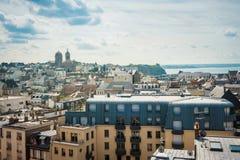 Niebo i miasto w Brittany Zdjęcia Royalty Free