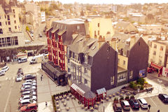 Niebo i miasto w Brittany Zdjęcie Royalty Free