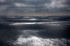Niebo i ocean Wcielający Na burza dniu Zdjęcie Stock
