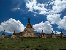 Niebo i pagoda Fotografia Royalty Free