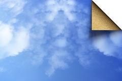 Niebo i piasek Obraz Stock