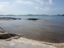 Niebo i plaża obraz stock