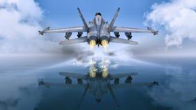 Niebo i samolot Obrazy Royalty Free