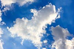 Niebo i serce chmura Fotografia Royalty Free