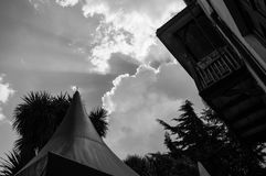 Niebo i Sunray, Addis Ababa, Etiopia fotografia royalty free