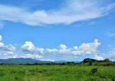 Niebo i tajlandzki kraj fotografia stock