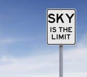 Niebo jest ograniczeniem Zdjęcia Stock