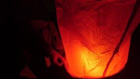 Niebo lampion przy nocą Obrazy Stock