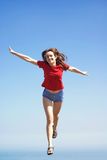 niebo latająca kobieta Zdjęcie Stock