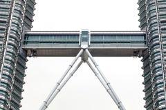 Niebo most między Petronas bliźniaczymi wieżami Obrazy Stock