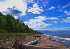 niebo na plaży Obrazy Royalty Free