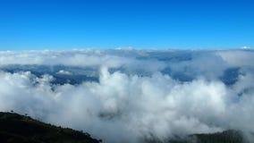 Niebo na wierzchołku góra w Tajlandia zdjęcie stock