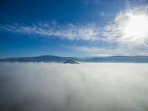 Niebo nad chmurami 01 Obraz Royalty Free