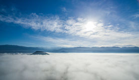 Niebo nad chmurami 03 Zdjęcia Stock
