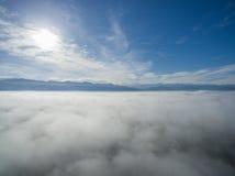 Niebo nad chmurami 05 Zdjęcia Stock