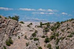 Niebo nad chorwackie góry Zdjęcie Stock