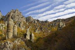Niebo nad doliną duchy Zdjęcia Stock