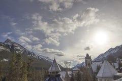 Niebo nad górską chatą w Kanada Obrazy Royalty Free