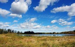 niebo nad jeziorem Obraz Stock