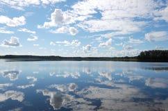 niebo nad jeziorem Obrazy Royalty Free