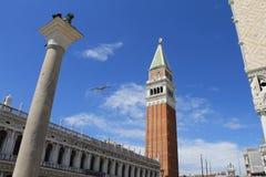 Niebo nad kwadrat St Marco Zdjęcia Royalty Free