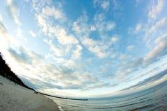 Niebo nad morzem bałtyckim Zdjęcie Stock