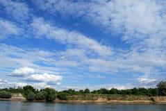 Niebo nad rzeką Zdjęcie Stock
