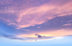 Niebo obłoczny pastelowy kolor Fotografia Royalty Free