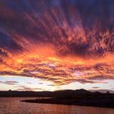 Niebo ogień Fotografia Stock