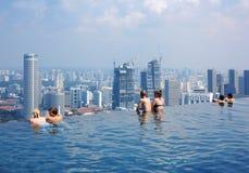 Niebo Pływacki basen Obraz Royalty Free