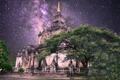 Niebo pełno gwiazdy w bagan Zdjęcie Stock