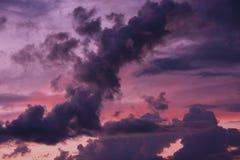 niebo piękny zmierzch Zdjęcia Stock