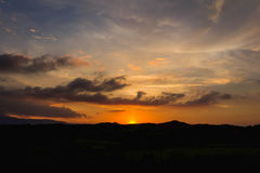 Niebo pomarańcze Obraz Royalty Free