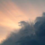Niebo przed burzą Fotografia Stock